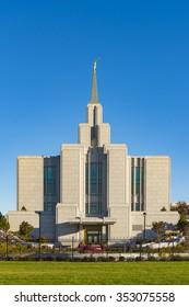 Sept. 29, 2015 - Calgary Alberta: The Church of Jesus Christ of Latter-day Saints, Calgary Alberta, Canada, Temple