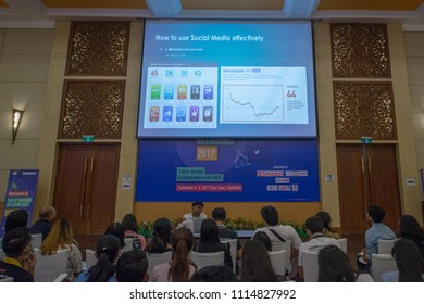 Sept 5, 17 Siemreap Cambodia. Mekong ICT Camp is a bi-annual sub-region workshop on innovation technology. Participants from Mekong sub-region join 5 days workshop on the issues of Mekong sub-region.