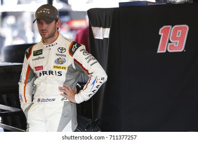 September 01, 2017 - Darlington, South Carolina, USA: Daniel Suarez (19) hangs out in the garage during practice for the Bojangles' Southern 500 at Darlington Raceway in Darlington, South Carolina.