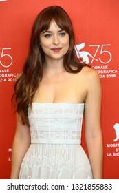 SEPTEMBER 01: Dakota Johnson attends 'Suspiria' photocall during the 75th Venice Film Festival on September 1, 2018 in Venice, Italy