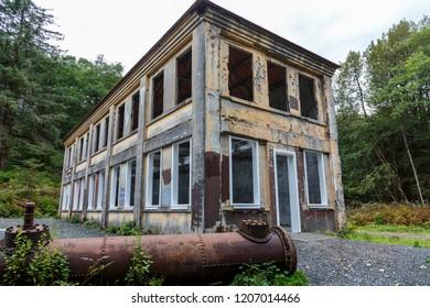 September 08 2018 Juneau Alaska. Old house  in he Treadwell mine historic park in Juneau Alaska
