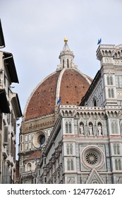September 09, 2017: Florence Cathedral (Firenze Duomo) in Italy. Florence Cathedral is famous for Dome.