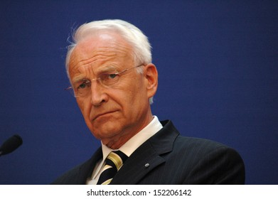 September 1, 2005 - BERLIN: Edmund Stoiber, chairman of the Christian Social Union of Bavaria during a press conference with members of the CDU and FDP in Berlin.