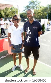 September 1, 2008, Brooklyn New York Brother and Sister Erinn and Keeth Smart at the Labor Day Parade