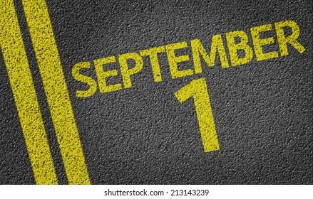 September 1 written on the road