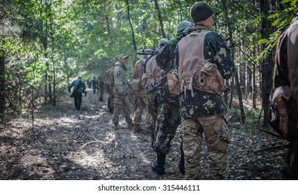 September 10, 2015. Kiev region, Ukraine.  National Guard military training exercises.
