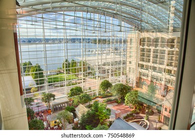 September 10, 2017, Oxen Hill, Maryland, USA: A view of the atrium inside the Gaylord National Resort and Convention center outside Washington, DC.