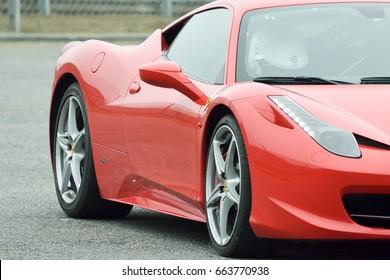 September 11,2015: Ferrari 458 GT at le Circuit de Lohéac,France.