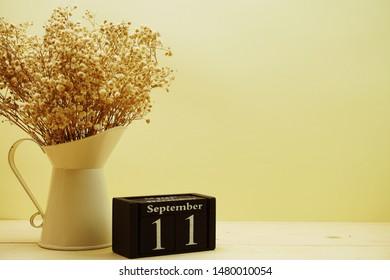 September 11th calendar wooden cube
