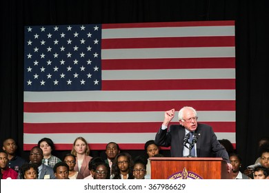 September 12, 2015 - Columbia S.C: Bernie Sanders speaks to an enthusiastic crowd of college students about inequality and justice reform at historical black college Benedict College