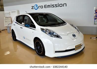 September 13, 2012 - Yokohama, Japan : nissan zero emission LEAF NISMO CONCAPE.