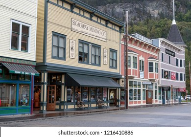 September 13 2018, Skagway Alaska. Old historic house of the gold rush in Skagway, Alaska.