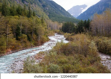 September 13 2018, Skagway Alaska. View  from  the historic white pass train of the gold rush in Skagway  Alaska