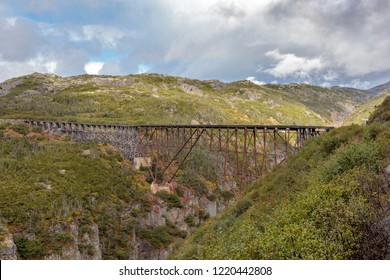 September 13 2018, Skagway Alaska. Old bridge for the historic white pass train of the gold rush in Skagway  Alaska