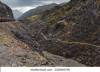 September 13 2018, Skagway Alaska. Historic white pass trail  of the gold rush in Skagway  Alaska