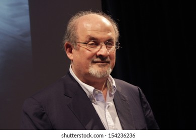 SEPTEMBER 14, 2013 - BERLIN: writer Salman Rushdie at a press conference at the International Literature Festival in Berlin, Haus der Berliner Festspiele, Berlin.