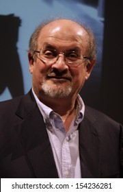 SEPTEMBER 14, 2013 - BERLIN: writer Salman Rushdie at a press conference at the International Literature Festival in Berlin, Haus der Berliner Festspiele, Berlin.