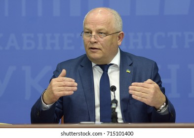 September 14, 2017. Kiev, Ukraine. Press-conference of Stepan Kubiv, the First Vice Prime Minister of Ukraine and simultaneously Minister of Economic Development and Trade.