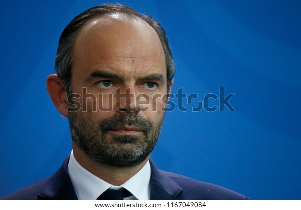 SEPTEMBER 15, 2017 - BERLIN: French Prime Minister Edouard Philippe at a press conference after a meeting with the German Chancellor in the Chanclery in Berlin.
