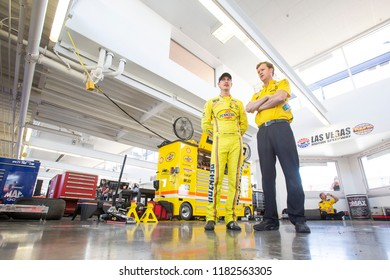 September 15, 2018 - Las Vegas, Nevada, USA: Joey Logano (22) gets ready to take to the track to practice for the South Point 400 at Las Vegas Motor Speedway in Las Vegas, Nevada.