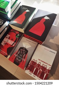 September 15, 2019, Amsterdam, Netherlands: Margaret Atwood's bestselling novel in different editions in the bookstore of Amsterdam.