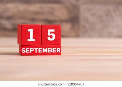 SEPTEMBER 15 CALENDER DAY