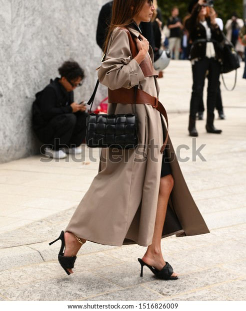 September 17, 2019: Milan, Italy - Street style outfit during Milan Fashion Week - MFWSS20
