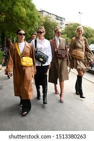 September 19, 2019: Milan, Italy - Street style outfit during Milan Fashion Week - MFWSS20