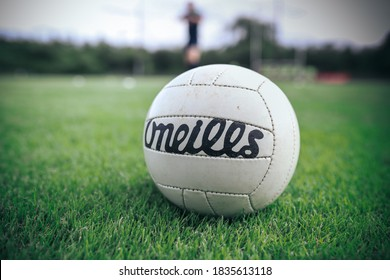 September 19th, 2020, Cork, Ireland - an O'Neills gaelic football lies in the grass with an out of focus background