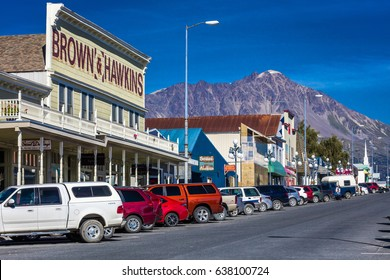 September 2, 2016 - Seward Alaska storefronts and small businesses on nice sunny day in Alaska