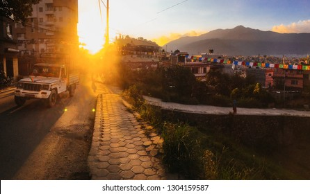 September 20, 2018 - Katmandu, Nepal - : Tourists and nepalese  on the streets of Kathmandu ,  the capital city of the Federal Democratic Republic of Nepal, the largest Himalayan state in Asia.