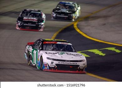 September 20, 2019 - Richmond, Virginia, USA: Justin Haley (11) battles for position for the Go Bowling 250 at Richmond Raceway in Richmond, Virginia.