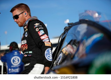 September 20, 2019 - Richmond, Virginia, USA: Chris Buescher (37) gets ready to qualify for the Federated Auto Parts 400 at Richmond Raceway in Richmond, Virginia.