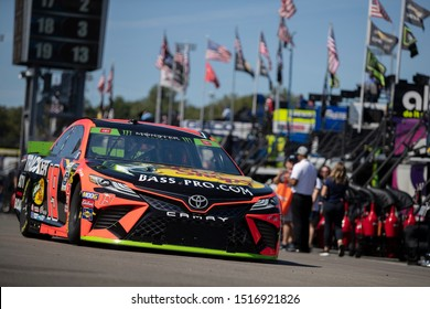 September 20, 2019 - Richmond, Virginia, USA: Martin Truex Jr. (19) gets ready to practice for the Federated Auto Parts 400 at Richmond Raceway in Richmond, Virginia.