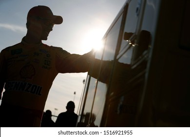 September 20, 2019 - Richmond, Virginia, USA: Joey Logano (22) gets ready to qualify for the Federated Auto Parts 400 at Richmond Raceway in Richmond, Virginia.
