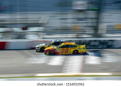 September 20, 2019 - Richmond, Virginia, USA: Joey Logano (22) takes to the track to practice for the Federated Auto Parts 400 at Richmond Raceway in Richmond, Virginia.