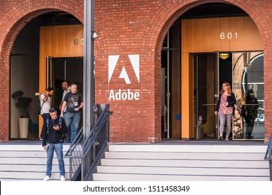 September 20, 2019 San Francisco / CA / USA - Adobe corporate headquarters in San Francisco