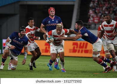 September 20, 2019, Yokohama, Japan, The 2019 Rugby World Cup Pool A match between Japan and Russia at Ajinamoto Stadium,Tokyo