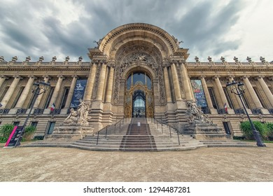 September 2016 - Paris, France - Facade of the Petit Palais in Paris