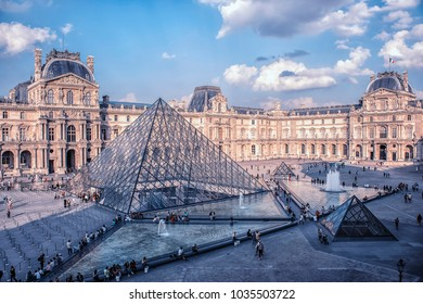 September 2016 - Paris, France- Le Louvre museum in daytime
