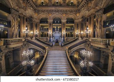 September 2016 - Stairway of the opera house in Paris
