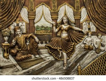 September 2016 ,Visakhapatnam(Vizag) ,India:Sculpture of Indian female dancing for the king