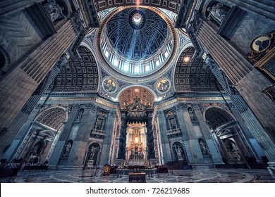 September 2017 - Inside the St Peter's basilica in the city of Vatican