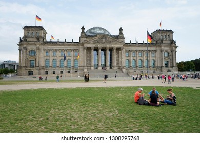 SEPTEMBER 2018 - BERLIN: Reichstag, Berlin-Tiergarten.