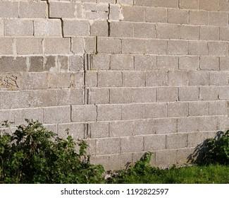 September 2018 - Structural failure of a blockwork wall
