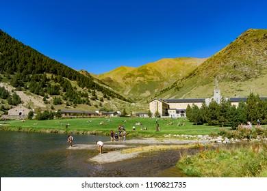 SEPTEMBER 2018: Vall de Nuria in the Catalan Pyrenees, Spain.