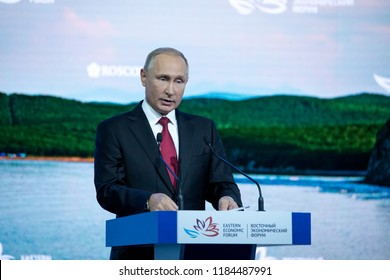 September, 2018 - Vladivostok, Primorsky Krai - Speech by the President of the Russian Federation Vladimir Putin at the East European Economic Forum as part of the Eastern Economic Forum in 2018