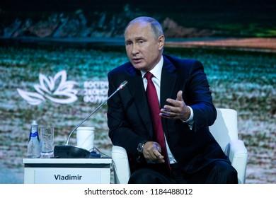 September, 2018 - Vladivostok, Primorsky Krai - Speech by the President of the Russian Federation Vladimir Putin at the East European Economic Forum as part of the Eastern Economic Forum in 2018