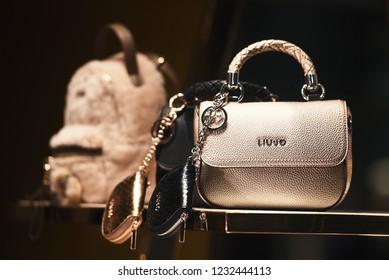 September 21, 2018: Milan, Italy -  Liu-Jo luxury handbag in a store in Milan.