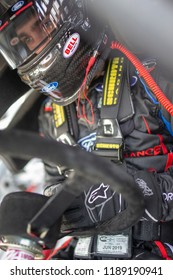 September 21, 2018 - Richmond, Virginia, USA: Ty Majeski (60) gets ready to practice for the Go Bowling 250 at Richmond Raceway in Richmond, Virginia.